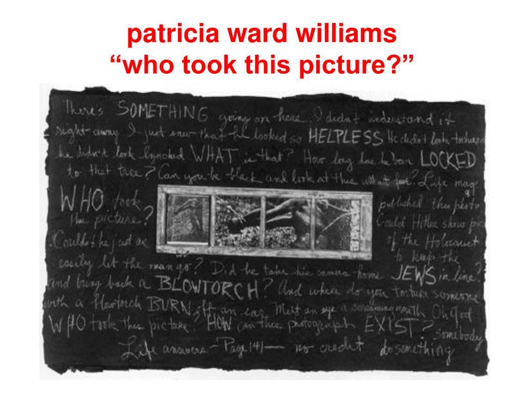 patricia ward williams