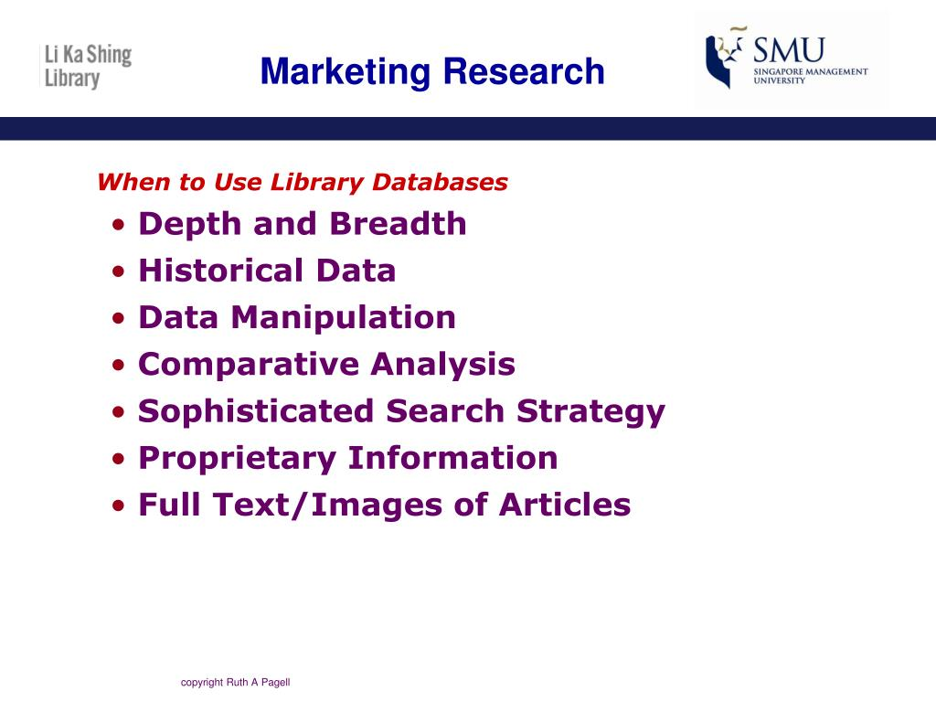When to Use Library Databases