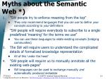 myths about the semantic web