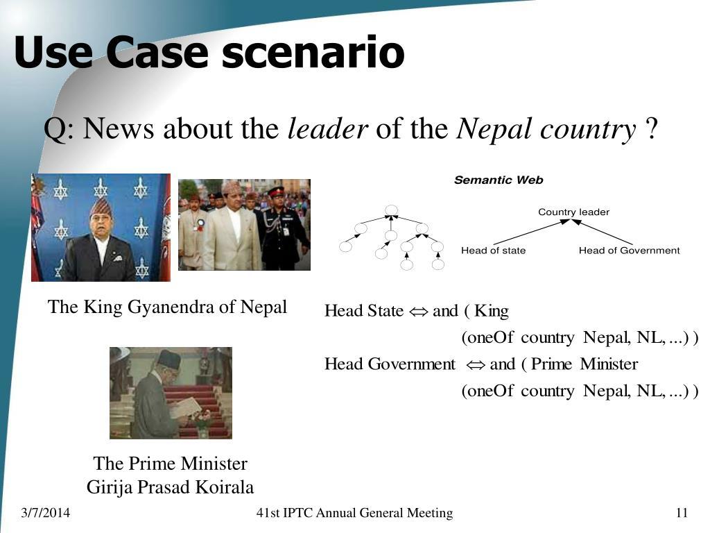Use Case scenario