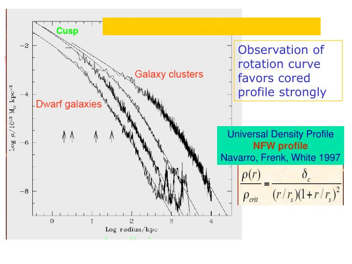 Dark matter distribution—Density profile