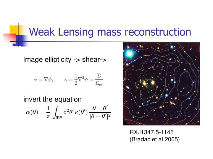 Weak Lensing mass reconstruction