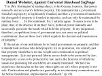 daniel webster against universal manhood suffrage