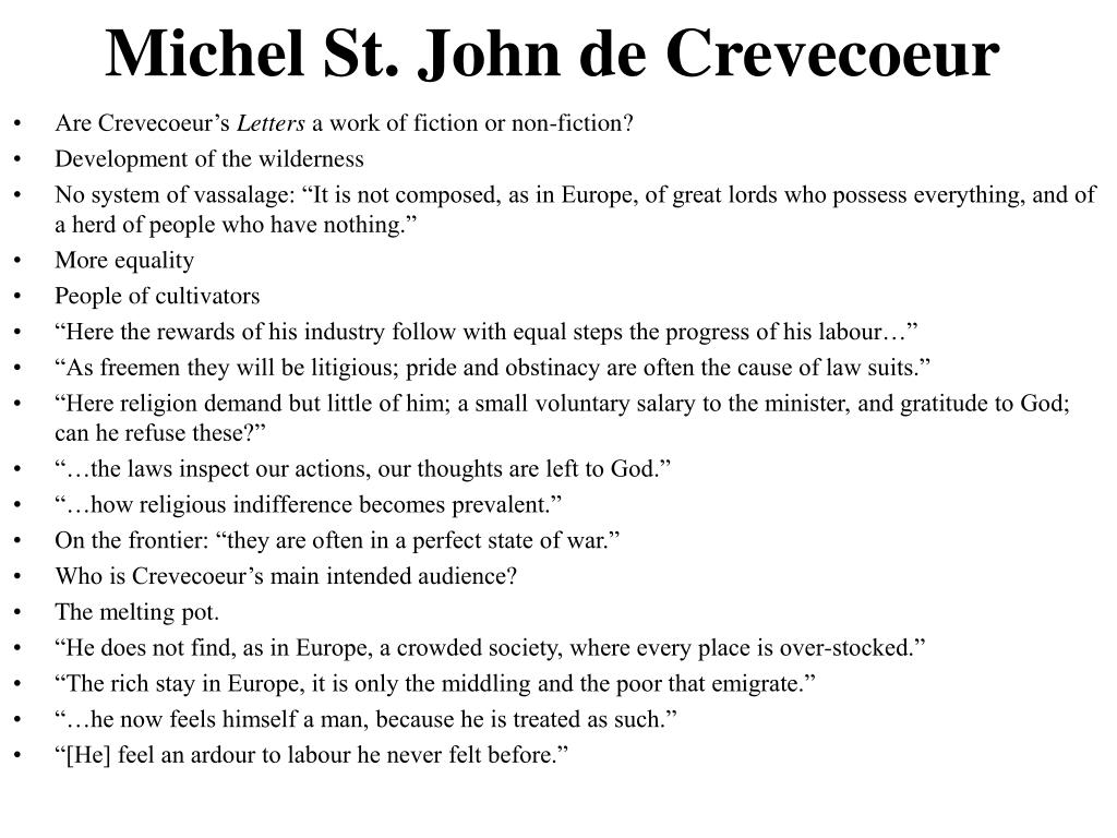 Michel St. John de Crevecoeur
