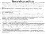 thomas jefferson on slavery
