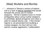 mad mullahs and bombs