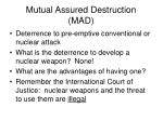 mutual assured destruction mad