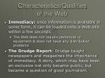 characteristics qualities of the web