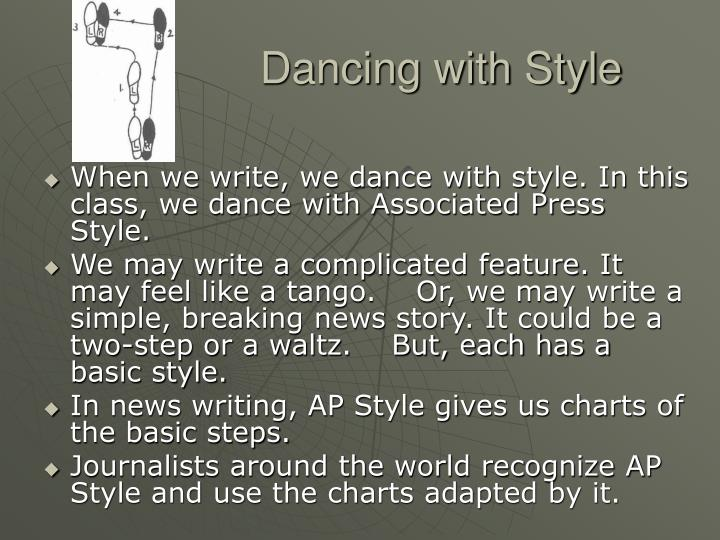 Dancing with style