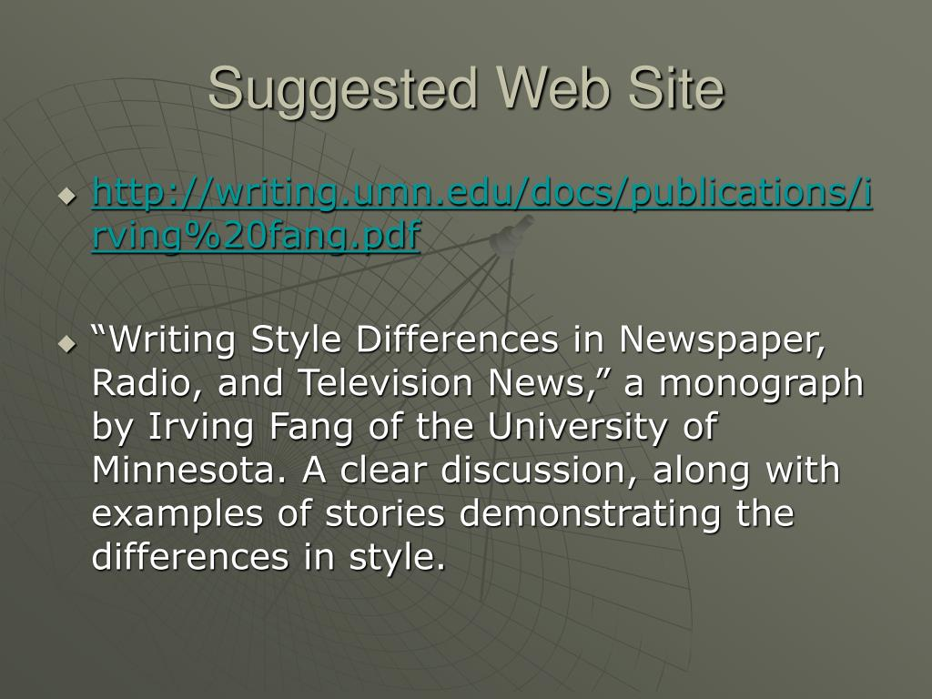 Suggested Web Site