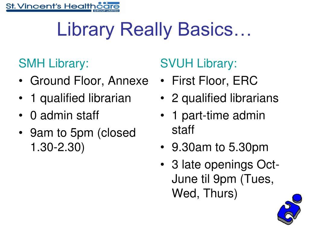 SMH Library: