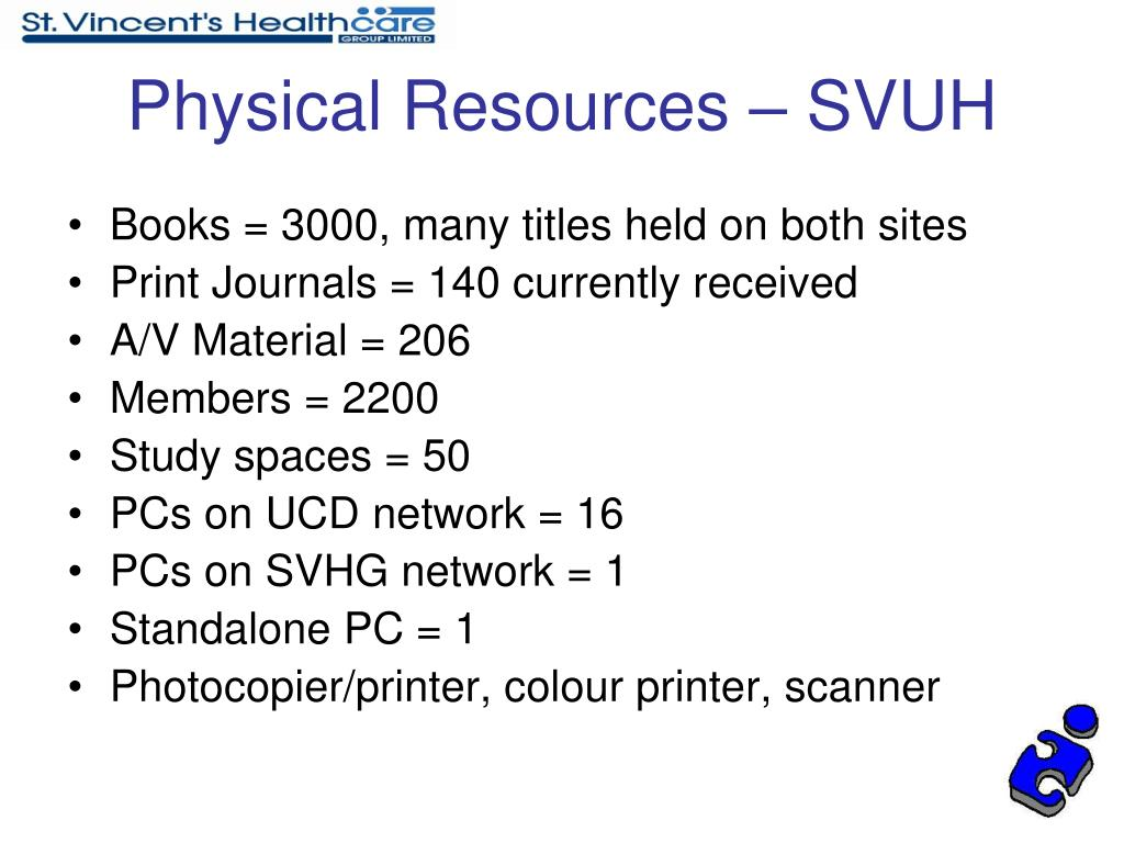 Physical Resources – SVUH