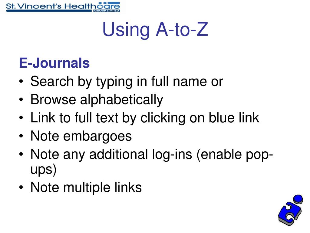 Using A-to-Z