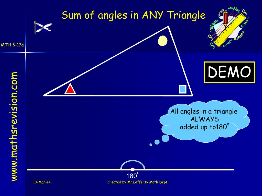 All angles in a triangle