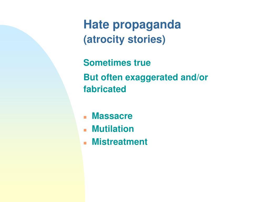 Hate propaganda