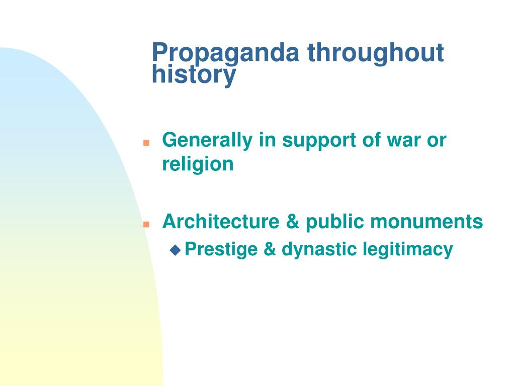 Propaganda throughout history