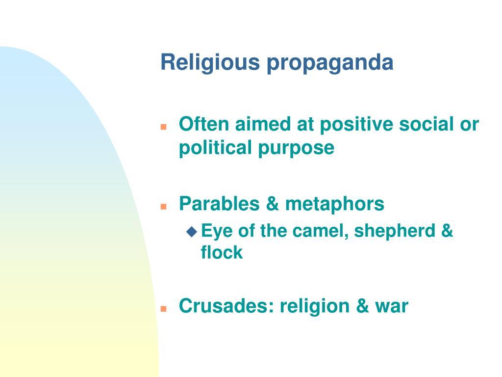 Religious propaganda