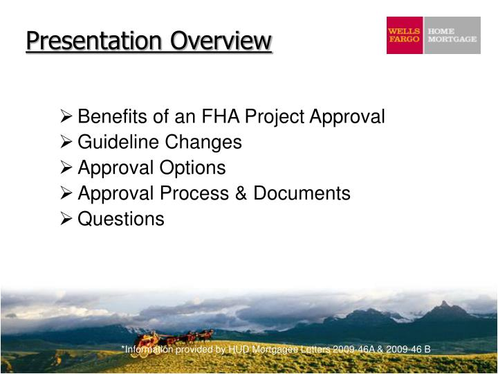 Benefits of an FHA Project Approval