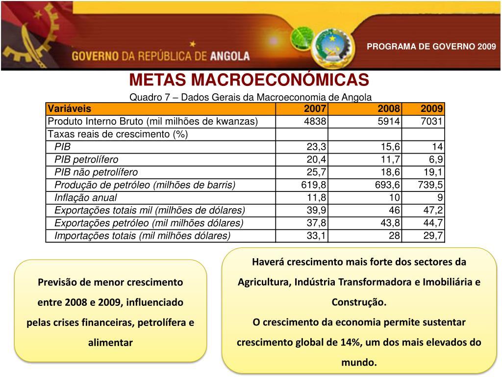METAS MACROECONÓMICAS