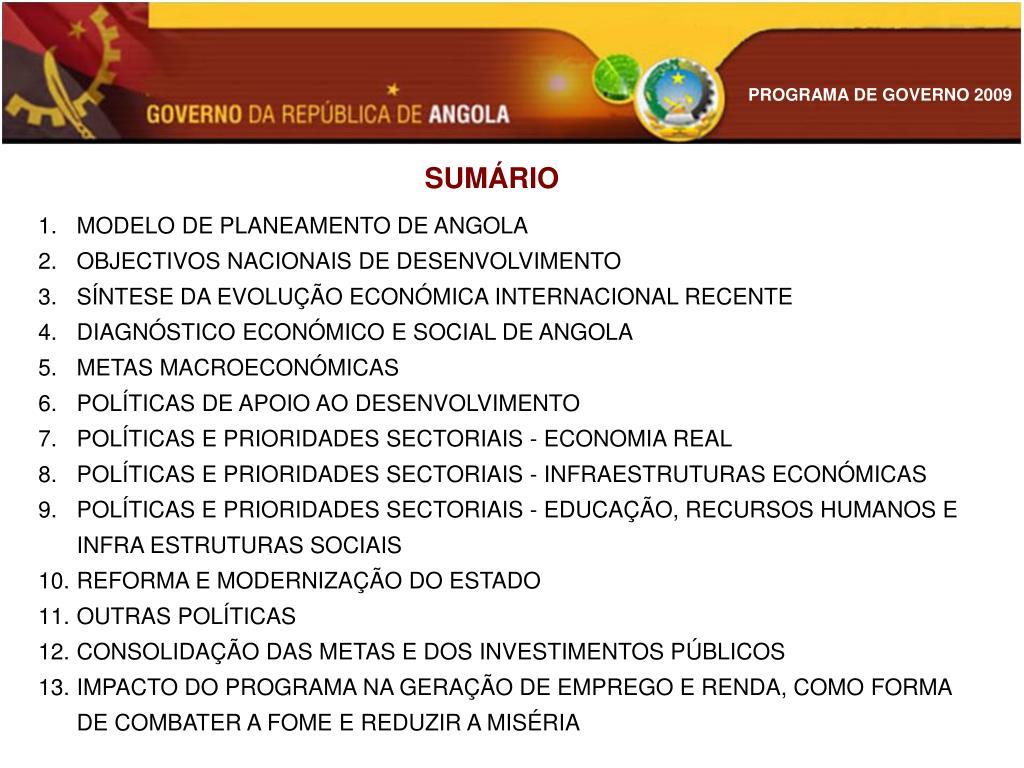 SUMÁRIO