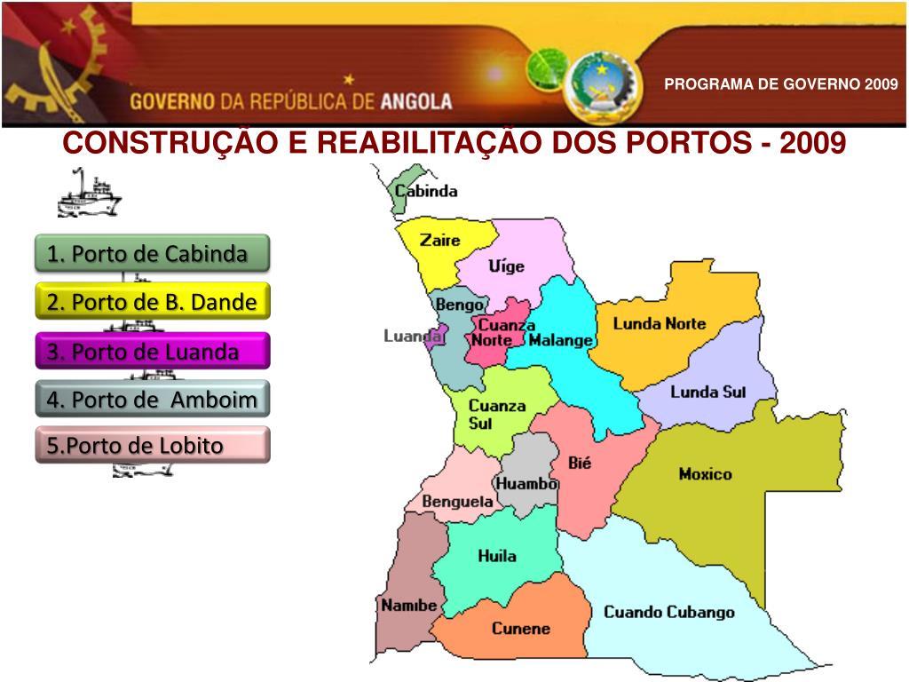 CONSTRUÇÃO E REABILITAÇÃO DOS PORTOS - 2009