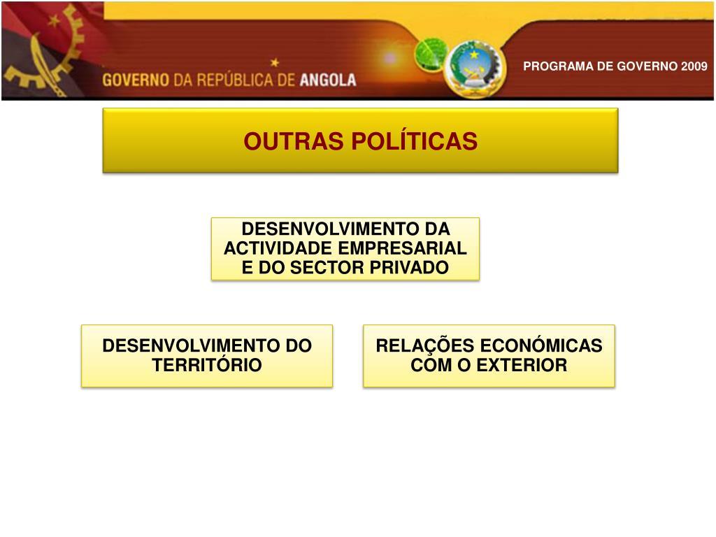 OUTRAS POLÍTICAS