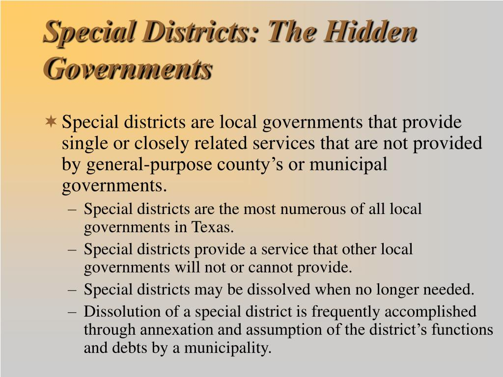 Special Districts: The Hidden Governments