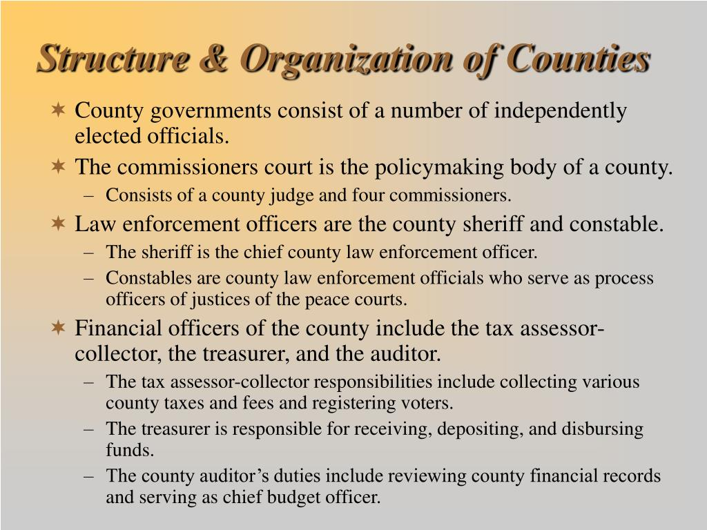 Structure & Organization of Counties