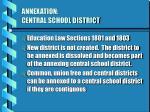 annexation central school district