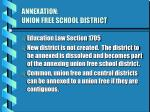 annexation union free school district