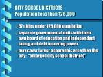city school districts population less than 125 000