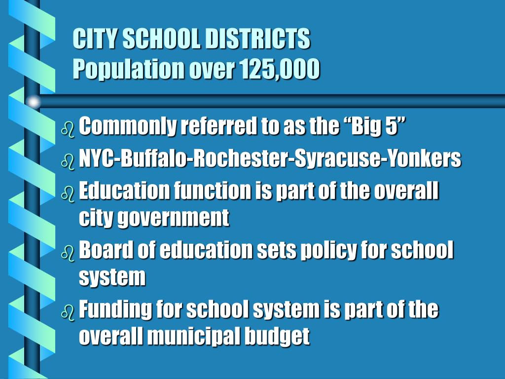 CITY SCHOOL DISTRICTS