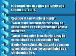 consolidation of union free common school districts
