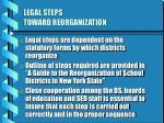 legal steps toward reorganization