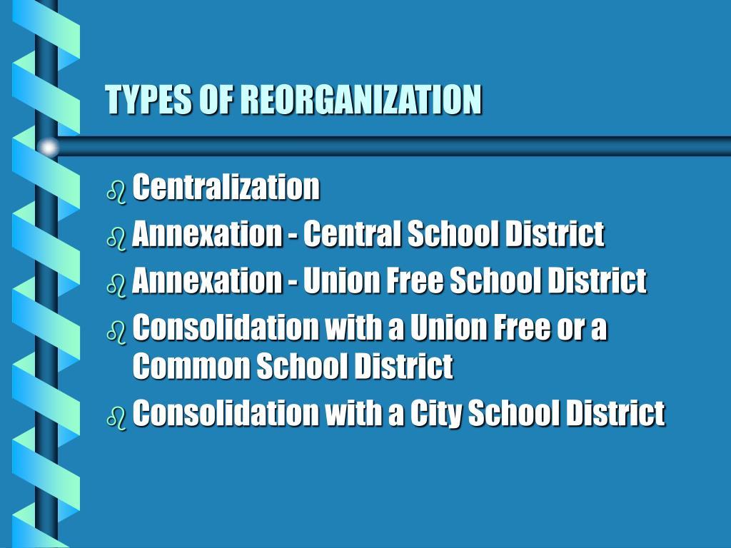 TYPES OF REORGANIZATION