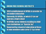 union free school districts