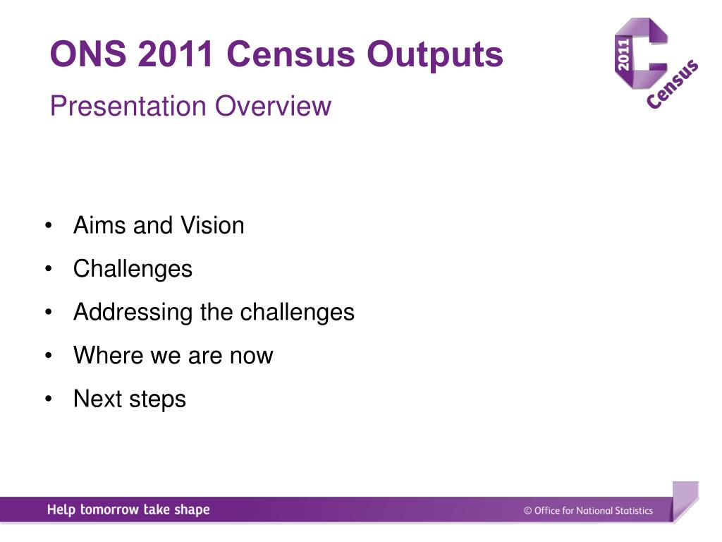 ONS 2011 Census Outputs