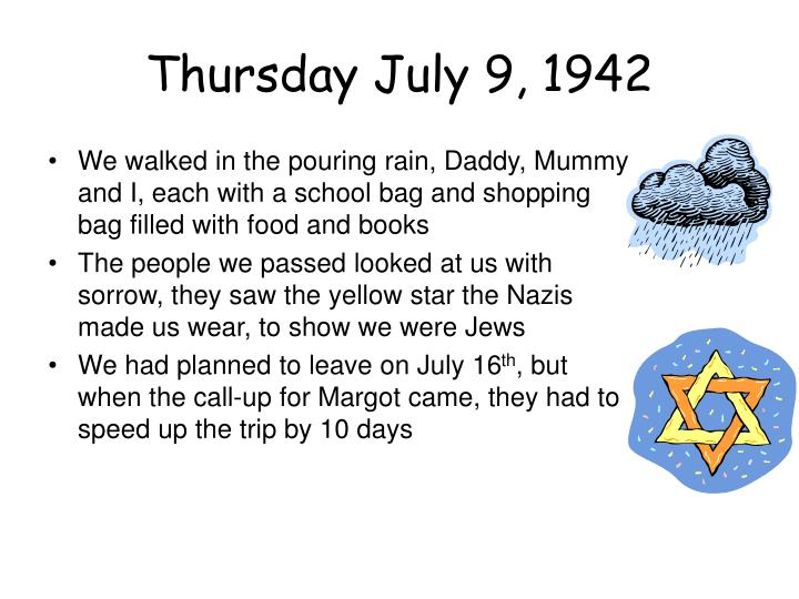 Thursday July 9, 1942