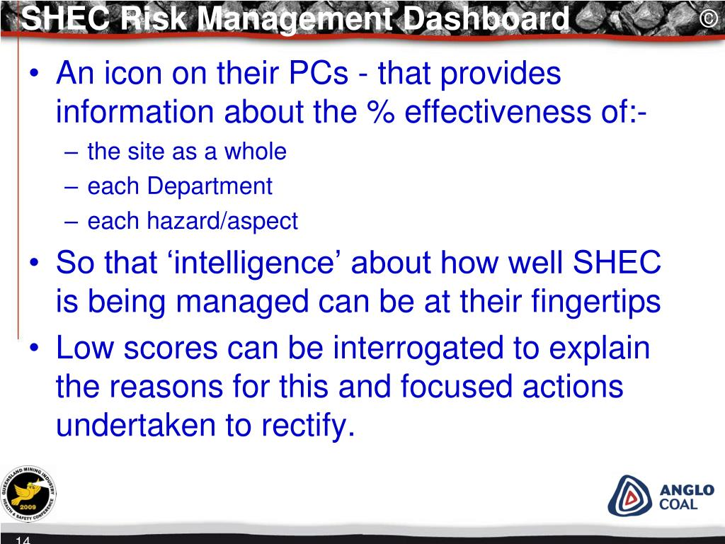 SHEC Risk Management Dashboard
