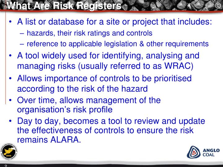 What are risk registers