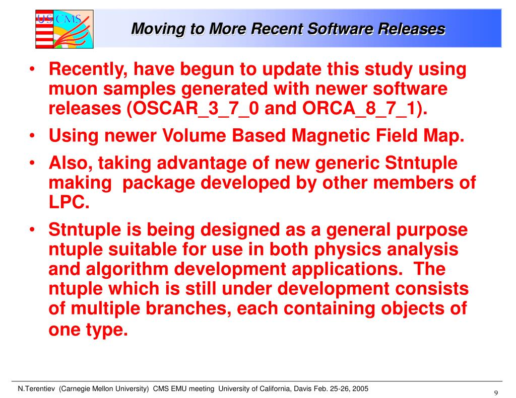 Moving to More Recent Software Releases