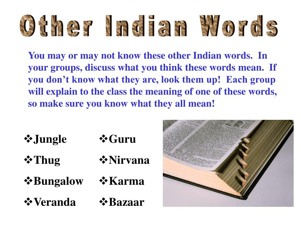 Other Indian Words
