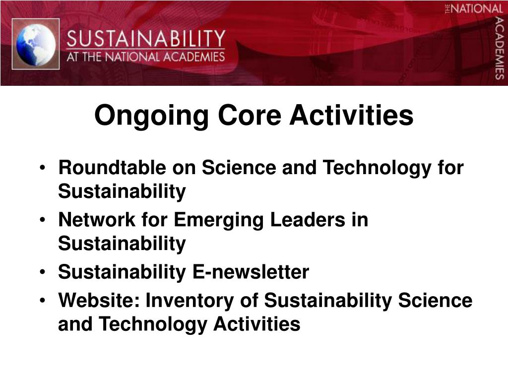 Ongoing Core Activities