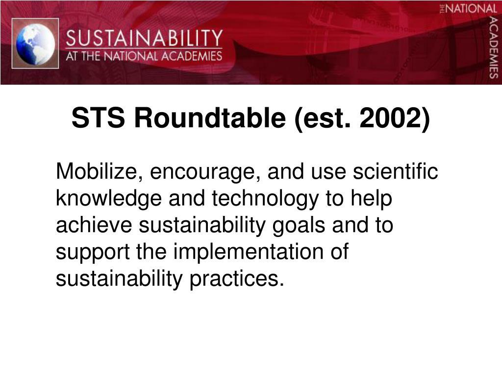 STS Roundtable (est. 2002)