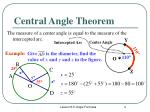 central angle theorem