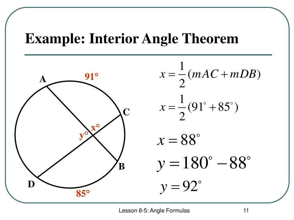 Example: Interior Angle Theorem