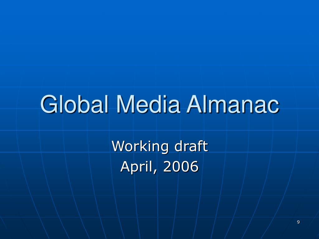 Global Media Almanac
