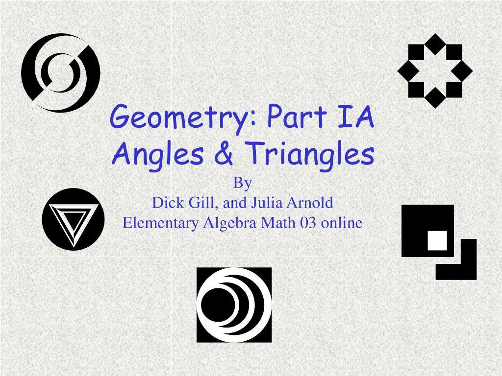 Geometry: Part IA
