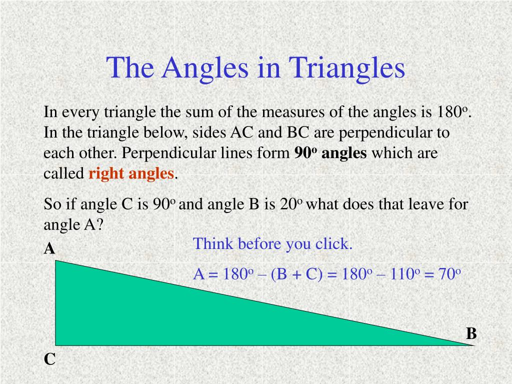 The Angles in Triangles