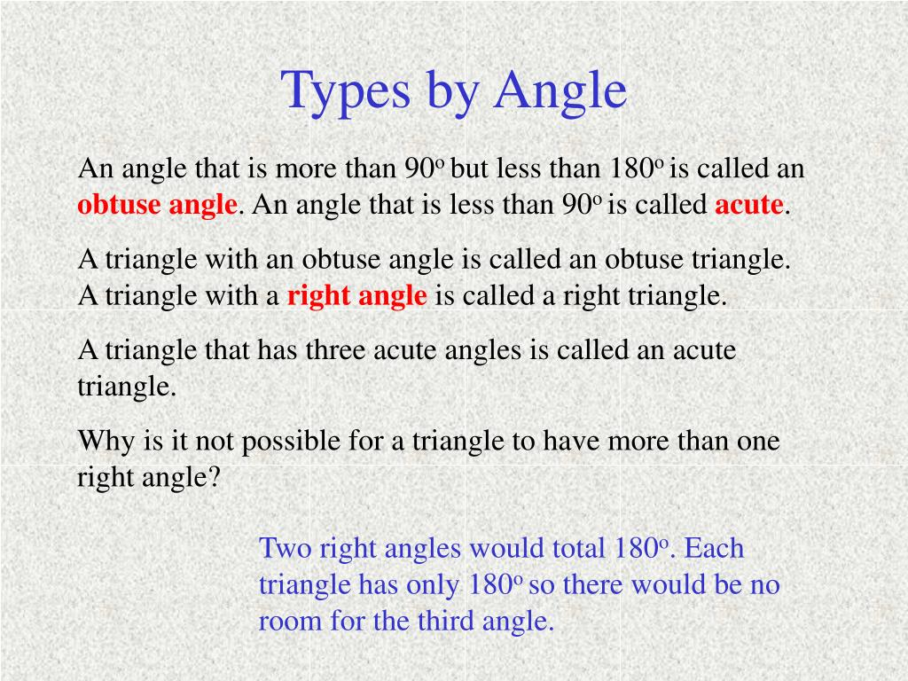Types by Angle